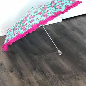 Betsey Johnson Teal and Rose Umbrella